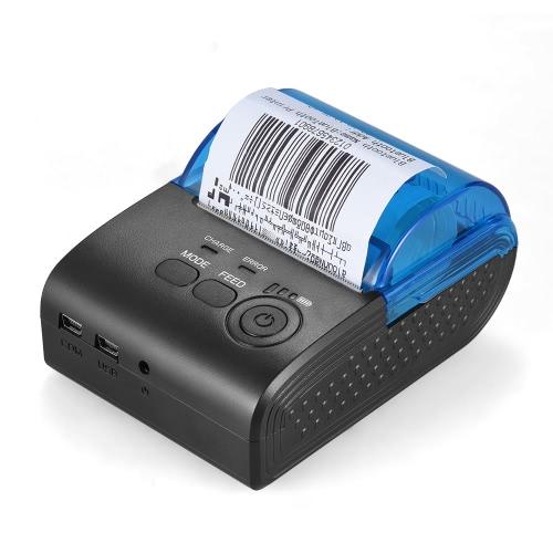 POS-5805DD Przenośny Mini 58mm Drukarka termiczna BT Pokwitowanie rachunku Biletu POS