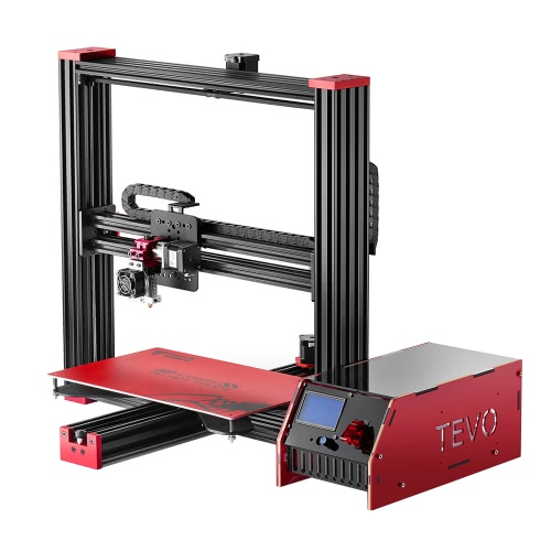 Tevo Black Widow I3 3D Printer DIY Kit Aluminum Frame Large Printing Size 370 * 250 * 300mm High Accuracy Adopt for MKS MOSFET Heating Controller Microstep Extruder LCD Screen, w/ Heatbed