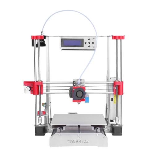 ZONESTAR P802Q Prusa i3 Metal FDM 3D Impressora DIY Kit Suporte Auto Nivelamento Reanudar Atualização Grande impressão Tamanho 220 * 220 * 240mm Alta Precisão w / Heatbed + 0.5kg 1.75mm Branco PLA Filamento