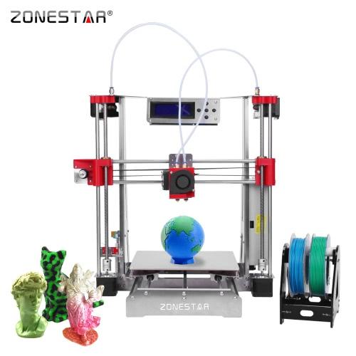 ZONESTAR P802QR2 Prusa i3 Metal FDM 3D Printer DIY Kit Dual Extruder Dual Color Printing Support Aut