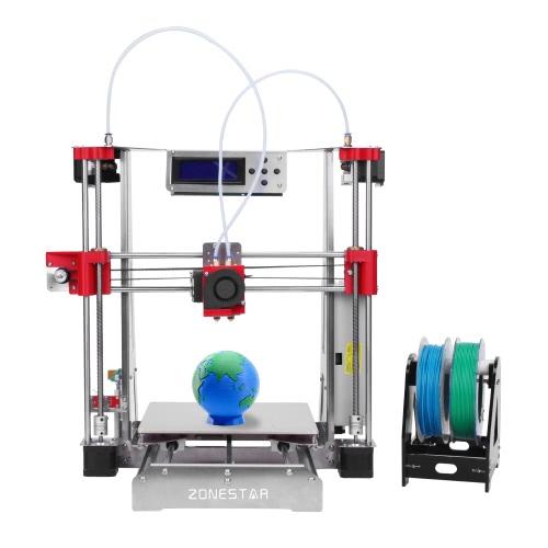 ZONESTAR P802QR2 Prusa i3 Metalowa drukarka FDM 3D DIY Kit Podwójny ekstruder Podwójny druk kolorowy Wsparcie dla automatycznego poziomowania Wznowienie wznowienia Duży rozmiar druku 220 * 220 * 240 mm Wysoka dokładność z podgrzewaniem + 0,5 kg 1,75 mm Białe włókno PLA