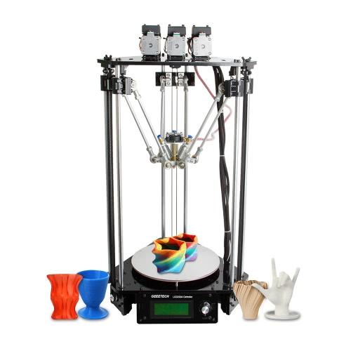 Geeetech Rostock 301 Mix Color FDM Impressora 3D Kit DIY Impressora tripla em 3-em-1-out com 0,4mm Bico 1.75mm Diâmetro do Filamento