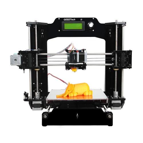 Geeetech Prusa I3 X Смазочный 3D-принтер DIY Kit Настольный 3D-принтер Полная акриловая рамная опора 6 типов нитей диаметром 0,3 мм диаметром 1,75 мм