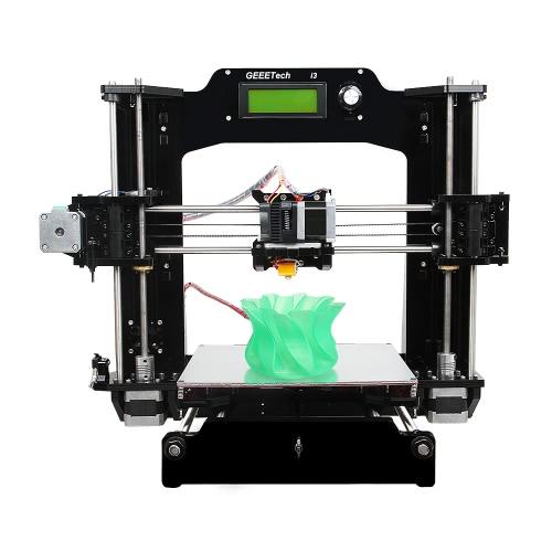 Geeetech Prusa I3 X Auto-Montagem Impressora 3D Kit DIY Impressora 3D Desktop Suporte de quadro acrílico completo 6 Tipos de Filamento 0.3mm Bico 1.75mm Diâmetro do Filamento