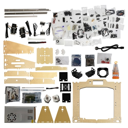 Geeetech Prusa I3 M201 2-IN-1-OUT Dual Extruder Mixcolor 3D Printer DIY Kit 0.4mm Nozzle