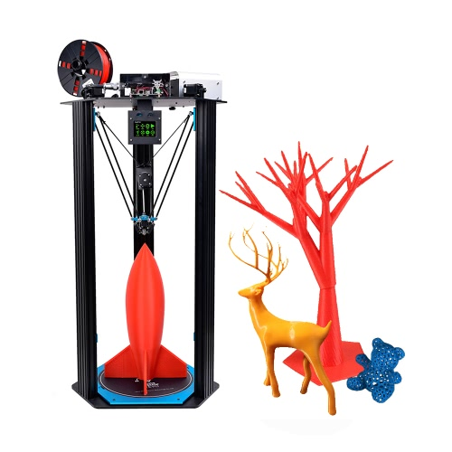 TEVO Little Monster KOSSEL Delta 3D Printer DIY Kit Large Printing Size D340 * H500mm Adopt for Smoothieware/ MKS TFT28 Touch Screen /BLTouch Auto Leveling /Titan Extruder High Speed Printing w/ Heatbed