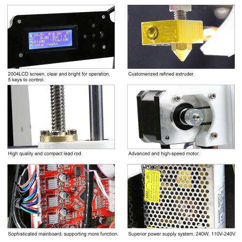 Anet A8 Upgraded High Precision Desktop 3D Printer Reprap i3 DIY Kits -  cafago com