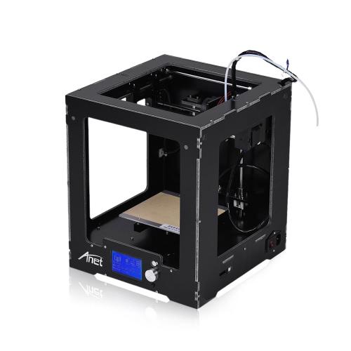 Anet A3-S Zbudowana drukarka 3D na biurku Ramka z tworzywa sztucznego z aluminium Wysokowydajna maszyna do kompletnego cięcia 150 * 150 * 150 mm Rozmiar budynku obsługuje drukowanie offline (z kartą 16 GB TF)