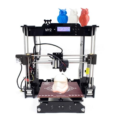 TNICE MY2 Desktop RepRap i3 Drukarka 3D DIY Kit ST Płyta główna Integrated Extruder 2004 Wyświetlacz LCD Rama akrylowa z 100m PLA Filament Praca z ABS PLA Drewno