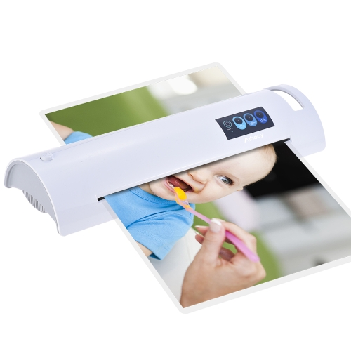 Aibecy A3 Photo/Paper/Document Hot Laminator Quick Warming Up Fast Laminating Speed Temperature Adjustable for 75/100/125mic Pouch Thickness with Jam Release Button