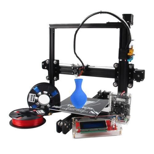 TEVO Tarantula I3 Extrusão de alumínio 3D Kit de impressão 3D Impressão 2 Rolls Filamento Cartão de memória de 8GB como presente (Cama normal, Extrusora de metal PRO com nivelamento automático)