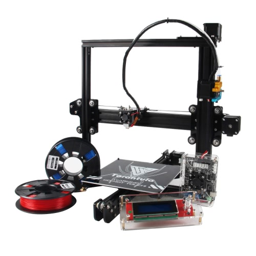 TEVO Tarantula I3 Aluminiowa Wysuwana Drukarka 3D Drukarka 3D Drukowanie 3D 2 rolki Filamentowa Karta Pamięci 8GB jako prezent (zwykłe łóżko z podwójnym wytłaczarką)