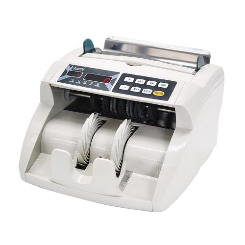Aibecy Desktop Multi-Moeda Automática Caixa de Crédito Conta de Dinheiro Contador Máquina de contagem Display LED com detector de contrafacção UV MG Exibição externa para EURO / USD / GBP / AUD / JPY / KRW
