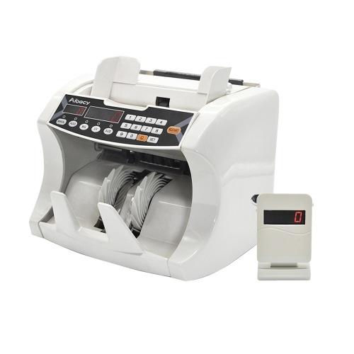 Aibecy Автоматическая многовалютная наличная банкнотная счетная счетная счетная счетная машина с ультрафиолетовым излучением УФ-MG Внешний дисплей для EURO / USD / GBP / AUD / JPY / KRW