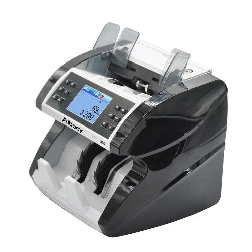 Aibecy Multi-Currency Cash Banknote Money Bill Máquina de contagem automática de contadores com UV MG MT Detector de falsificação de infravermelho Suporta função de contagem de valor misto para EURO / USD / GBP / AUD / JPY / KRW