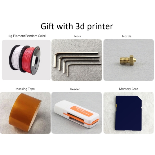 Flsun Cube F1 3D Printer Diy Kit Auto Leveling 360W Large Power Supply Print Size 260 * 260 * 350mm
