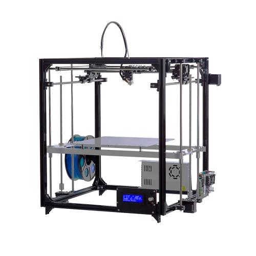 Flsun Cube F1 Impressora 3D Diy Kit Nivelamento automático 360W Grande fonte de alimentação Tamanho de impressão 260 * 260 * 350mm Moldura de alumínio Cama aquecida Duplo ventilador