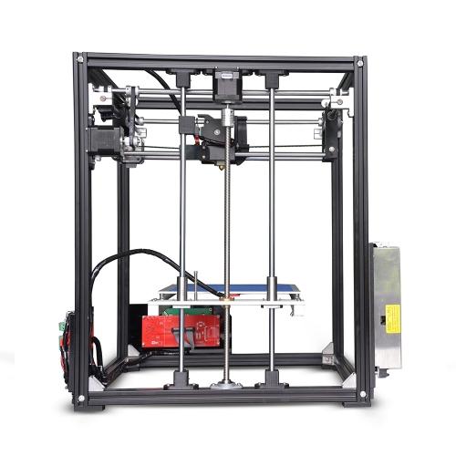 Tronxy X5 DIY 3D Kits de Impressora Grande Tamanho da Impressão 210 * 210 * 280mm LCD12864 Tela de Metal de Alta Precisão Quadro
