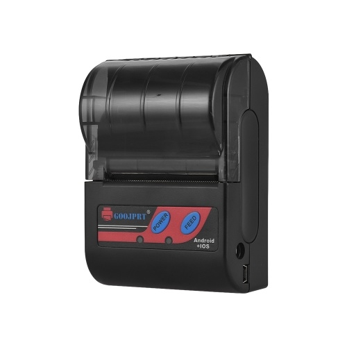 Goojprt MTP-II Портативный 58-миллиметровый термопринтер Ручной мини-чековый принтер 80 мм / с Скорость печати для IOS Android Windows System