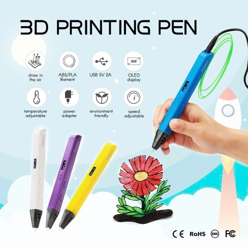 Aibecy 3D Printing Pen OLED Display work with ABS PLA Filament for Kids Art Craft Drawing DIY Gift