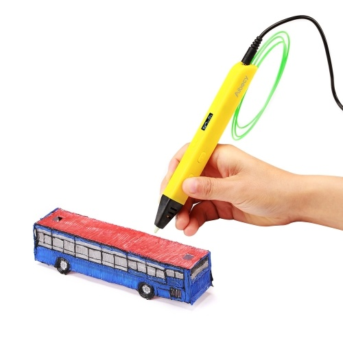 Aipecy 3D Printing Pen OLED Display работает с ABS PLA Filament для детей Art Craft Drawing DIY Gift