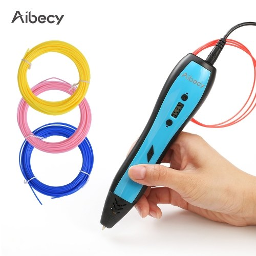 Aibecy 3D Printing Pen LCD Display work with ABS PLA Filament for Kids Art Craft Drawing DIY Gift