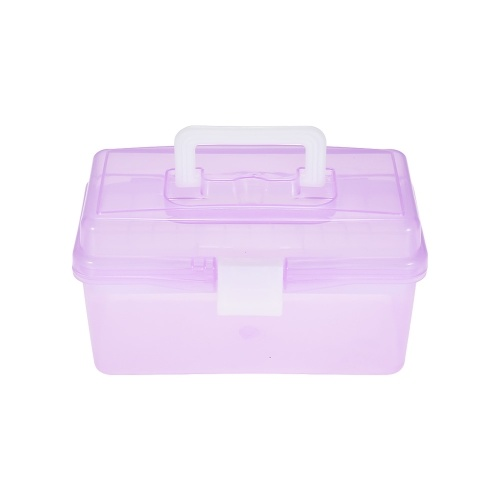 Clear Plastic Art Storage Box Watercolor Oil Painting Supplies Multipurpose Case Portable for Artists Students