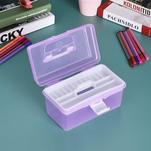 Яркий пластиковый ящик для хранения предметов для акварельных масел для полиграфии Многофункциональный чехол для студентов-художников фото