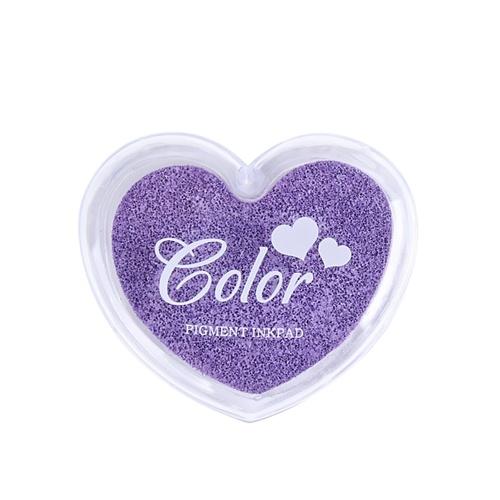 Craft Finger Ink Pad Stamps Candy Colors Heart-Shaped Design Fingerprint Inkpad