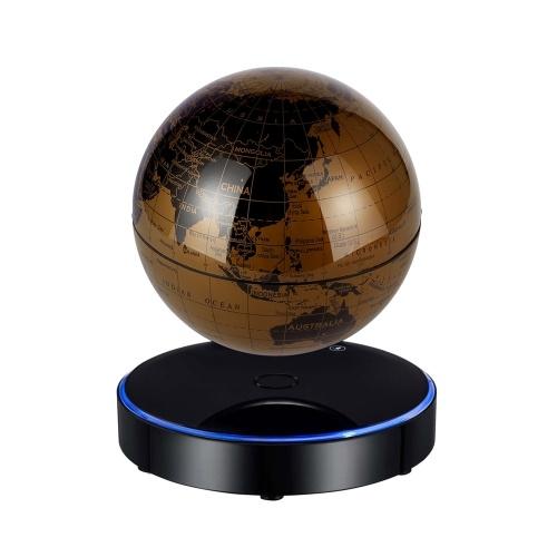 Globe terrestre de carte du monde en lévitation magnétique