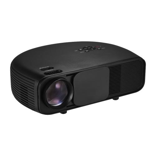 Proyector LCD Full HD LED Projector 1080P Compatible con 50000 horas Lámparas 3200 lumen con 2 * HD / 2 * Puerto USB / VGA / AV / Auriculares Compatible para PC portátil, iPhone, iPhone, Android, teléfonos inteligentes, dispositivos de juegos para películ