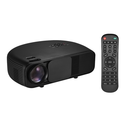 LCD Projector Full HD LED Projector 1080P Supported 50000 Hours Lamps Life 3200 Lumen with TV/ 2*HD/ 2*USB/ VGA/ AV/ Headphone Port Compatible for Laptop PC TV iPhone Android Smartphones Gaming Devices for Movie and PowerPoint Presentation