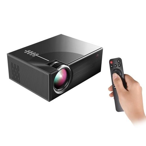 Projetor LCD Portátil Full HD Projetor LED 1080P Suportado 50000 Horas de Vida de Lâmpadas de Apoio HD / USB / VGA / AV / Fone De Ouvido / Entrada de Cartão SD para Home Theater entretenimento