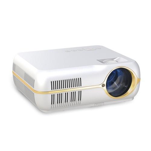 Home Video Proiettore Home Theater portatile Proiettore LED 4200 Lumens 80000 ore di vita Lampade Supporto vita Full HD 1080P Videogiochi con HD-IN USB VGA Audio AV
