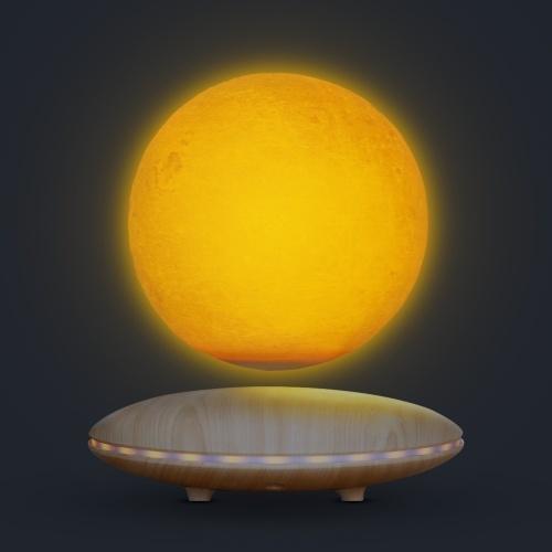 浮遊月ランプの浮遊回転LED 3D月ライト