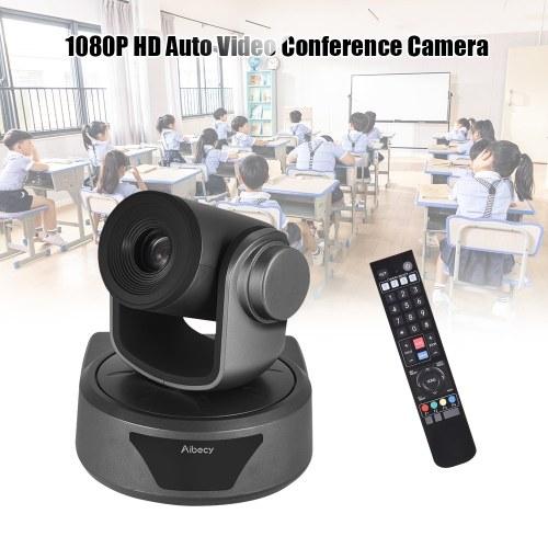 Caméra de vidéoconférence Aibecy Webcam 10X Zoom optionnel Caméra Full HD 1080P avec viseur à mise au point automatique de 52 degrés de large avec télécommande USB 2.0 pour les salles de réunion d'affaires Enregistrement de la formation