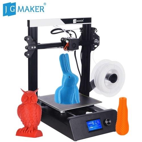 JG MAKER Kit stampante 3D desktop 3D ad alta precisione di grandi dimensioni Kit 220 * 220 * 250mm Dimensioni di costruzione con display LCD per letto termico Resume Print Filament Runs Out Detection gratuito 10m PLA Filament + 8G SD Card