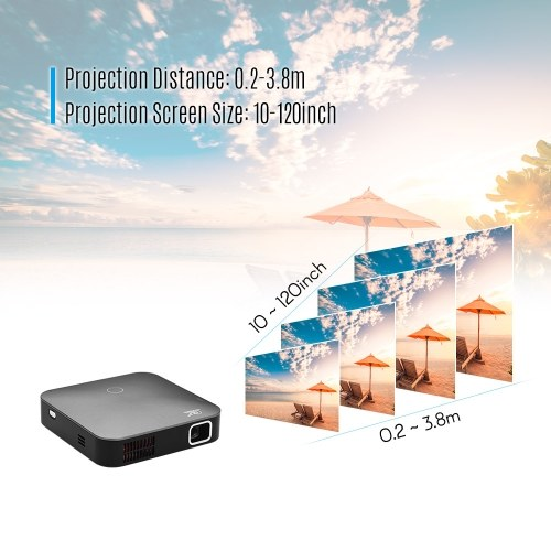 Smart DLP Portable Projector 4K Resolution HD Image Input