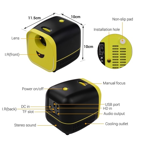 Mini LED Video Children Projector, TOMTOP  - buy with discount