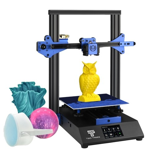 TWO TREES BLUER 3D Printer DIY Kit Sheet Metal Structure Silent Printing 235*235*280mm Build Volume High Precision with 3.5 Inch Touchscreen Heated Bed Resume Print Filament Run Out Detection Function 4G TF Card PLA Sample Filament 10m