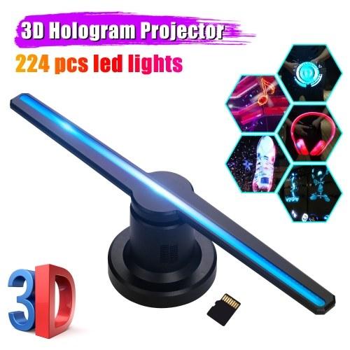 3D Голограмма Проектор Реклама Дисплей Вентилятор Фото Видео Воздух Голографическая машина Плеер
