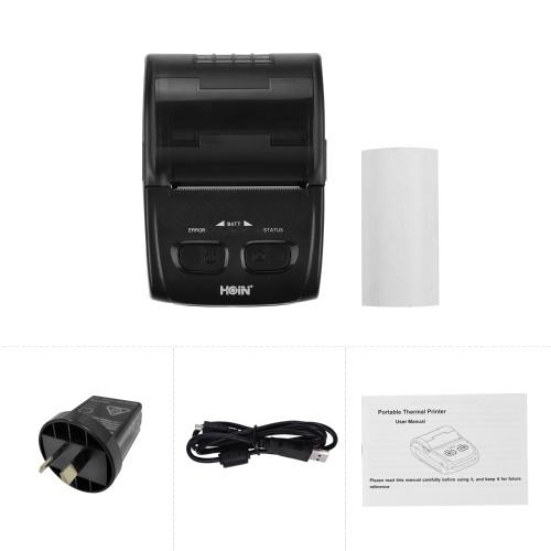 Stampante termica portatile HOIN da 58 mm per ricevute