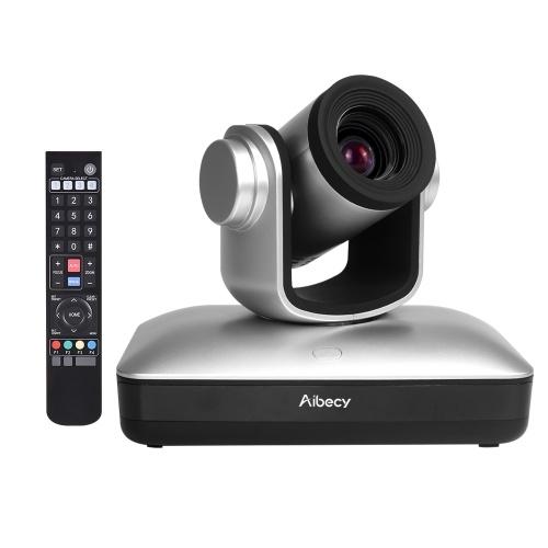 Telecamera per videoconferenza HD Aibecy Telecamera Full HD 1080P con messa a fuoco automatica 10X Zoom ottico