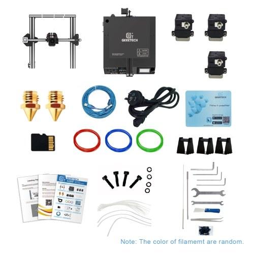3D-принтер Geeetech A20T, быстрая сборка, 3-в-1, многоцветная печать с платой управления GT2560. Высокая точность поддержки. Возобновление печати. фото