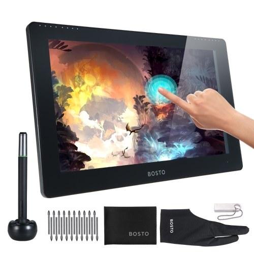 BOSTO Studio 16HDT Tablette de dessin pour moniteur graphique portable 15,6 pouces