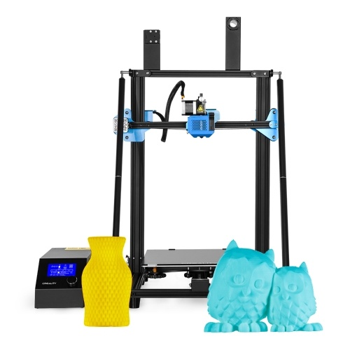 Creality 3D CR-10 V3 Upgrade High Precision 3D Printer DIY Kit TMC2208 Driver Large Printing Size 300*300*400mm with 8G SD Card PLA Sample Filament Support Resume Printing Filament Detection for Home School Use