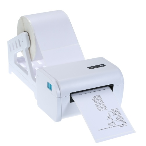 110mm BT Shipping Label Printer with Stand USB Cable High Speed Direct Thermal Printer Receipt Label Maker Sticker Compatible with Windows & Mac & Android & iOS for Barcode Express Clothing Jewelry Label Price Printing