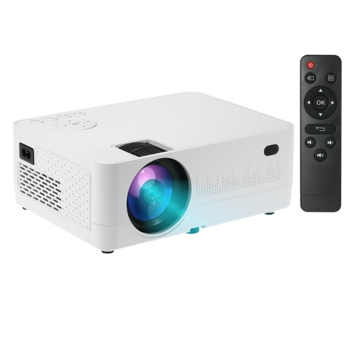 Portable Home Theater LED Projector  1080P Supported 6500 Lux Home Video Movie Projector