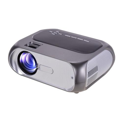 Mini projecteur intelligent 1080P pris en charge à écran 200 pouces Projecteur de film vidéo portable Partage d'écran sans fil WiFI Haut-parleur intégré compatible avec le smartphone PS4 HD AV USB pour le divertissement à domicile