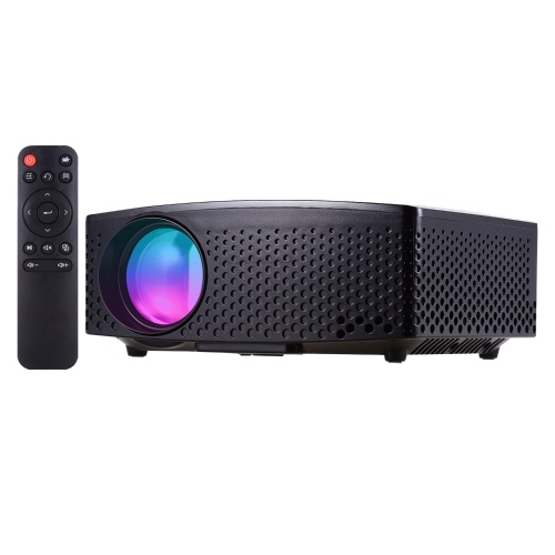 GP80 Mini LED Video Projector 1080P Supported 3500 Lumens 120 Inch Display Built-in Stereo Speaker with AV/USB/HD/VGA Interface Portable Movie Projector for Home Theater Entertainment